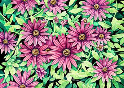 Daisy Flowers Art Print by Tish Wynne