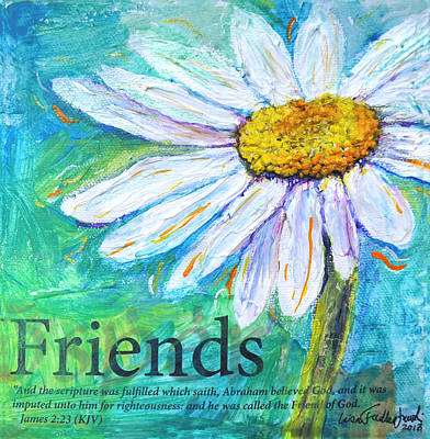 Daisy Friends Art Print by Lisa Fiedler Jaworski