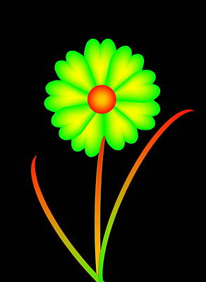 Art Print featuring the digital art Daisy by Gayle Price Thomas