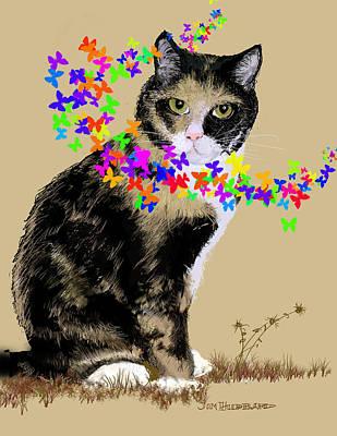 Drawing - Daisy by Jim Hubbard