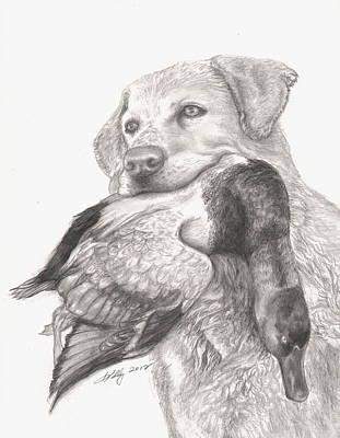 Labrador Drawing - Daisy by Kathleen Kelly Thompson