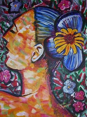 Daisy Art Print by Linda Vaughon