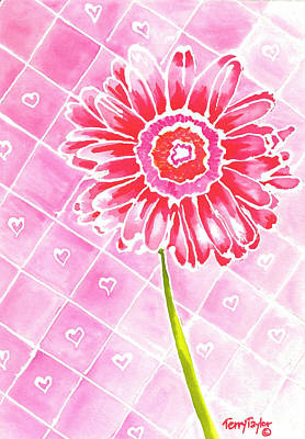 Painting - Daisy Love by Terry Taylor