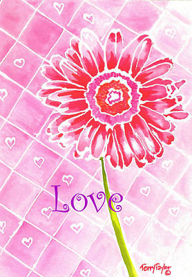 Painting - Daisy Loves Love by Terry Taylor