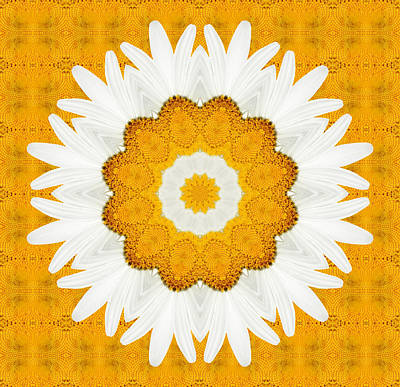 Kaleidoscope Digital Art - Daisy Mandala 01 by Variance Collections