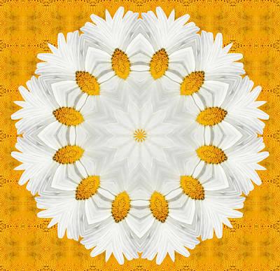 Kaleidoscope Digital Art - Daisy Mandala 02 by Variance Collections
