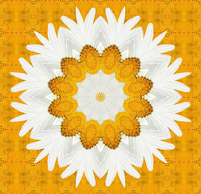 Kaleidoscope Digital Art - Daisy Mandala 03 by Variance Collections