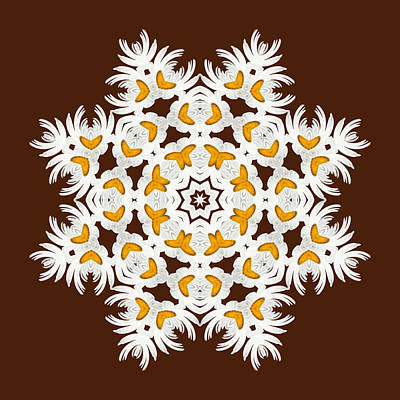 Kaleidoscope Digital Art - Daisy Mandala  12t by Variance Collections