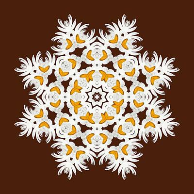 Daisy Digital Art - Daisy Mandala  12t by Variance Collections