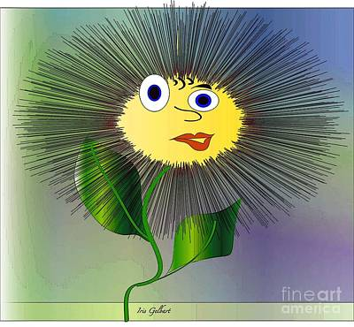 Daisy May Art Print by Iris Gelbart