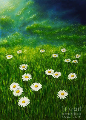 Peaceful Places Painting - Daisy Meadow by Veikko Suikkanen