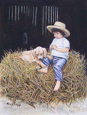 Daisy Art Print by Nancy Cupp