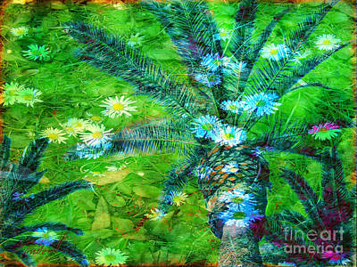 Photograph - Daisy Palms by Meghan at FireBonnet Art