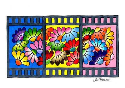 Daisy Drawing - Daisy Photo Film by Jane Miles