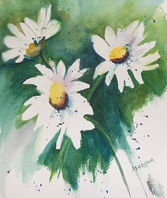 Painting - Daisy Print by Marsha Woods