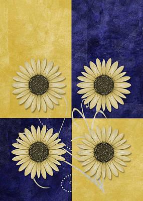 Daisy Digital Art - Daisy Quatro V09 by Variance Collections