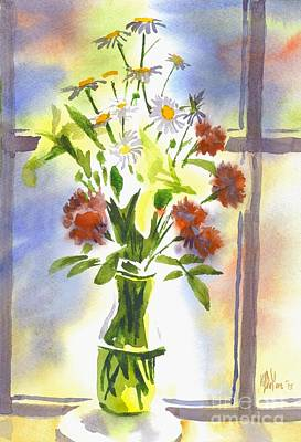 Interior Still Life Painting - Daisy Supreme by Kip DeVore