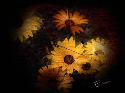 Gerber Daisy Mixed Media - Daisy Thoughts by Ernestine Manowarda