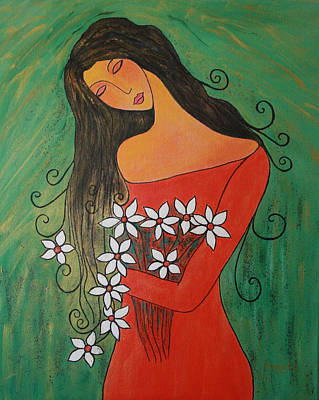 Painting - Daisy's by Renate Dartois