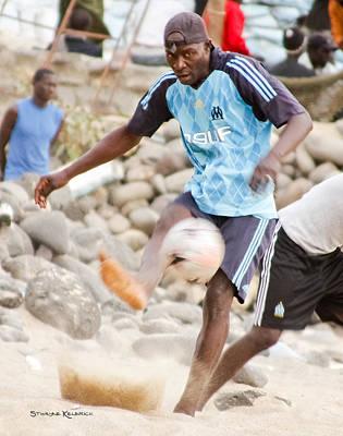 Dakar's Beach Soccer Art Print by Stwayne Keubrick