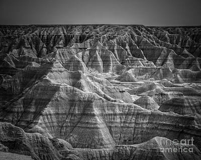 Desert Photograph - Dakota Badlands by Perry Webster