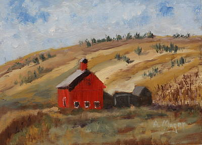 Painting - Dakota Barn by Alan Mager