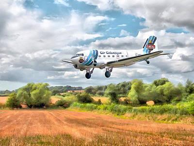Digital Art - Dakota - Cleared To Land by Paul Gulliver