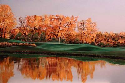 Dakota Painting - Dakota Dunes Golf Course by Cecilia Brendel
