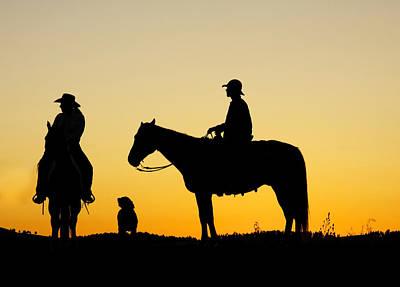 Working Cowboy Photograph - Dakota Morning by Steven Bateson