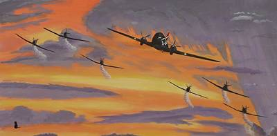 Dc-3 Painting - Dakota Sunset by Jonathan Laverick