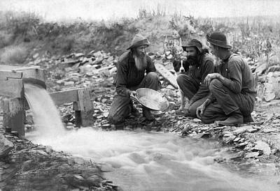 Gold Panning Photograph - Dakota Territory Gold Miners by John C. H. Grabill