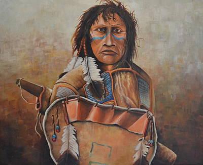 Dakota Warrior Art Print by Martin Schmidt
