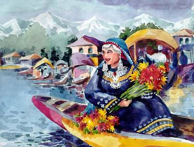 Dal Lake Jewel In The Crown Of Kashmir Original by Donna Jolly Jacob