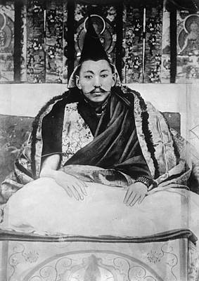Buddhist Painting - Dalai Lama (1876-1933) by Granger