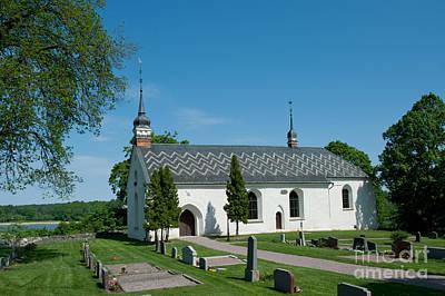 Dalby Church Art Print by Torbjorn Swenelius