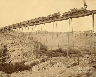 Photograph - Dale Creek Bridge Union Pacific by Getty Research Institute