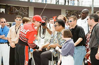 Earnhardt Photograph - Dale Earnhardt Jr And Muhammed Ali by Retro Images Archive