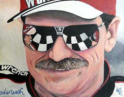 Nascar Painting - Dale Earnhardt Sr by Tom Carlton
