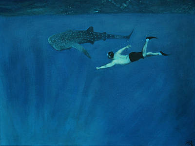 Dale Vs. The Whale Shark Art Print by Patrick Kelly