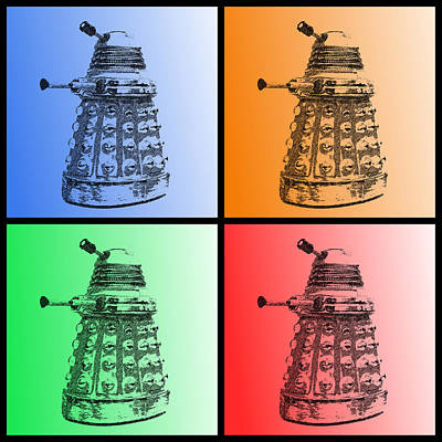 Photograph - Dalek Pop Art by Richard Reeve