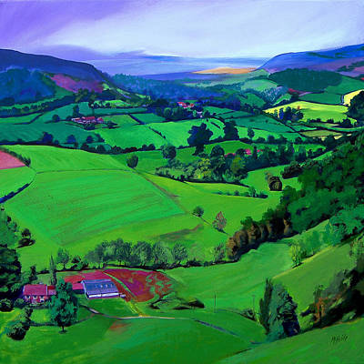 Dales Patchwork Art Print by Neil McBride