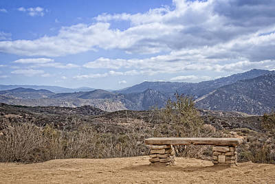 Photograph - Daley Ranch Scenic Rest by Dave Hall