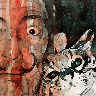 Dali And His Cat Art Print