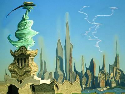 Painting - New York Fantasy - Modern Art by Art America Gallery Peter Potter