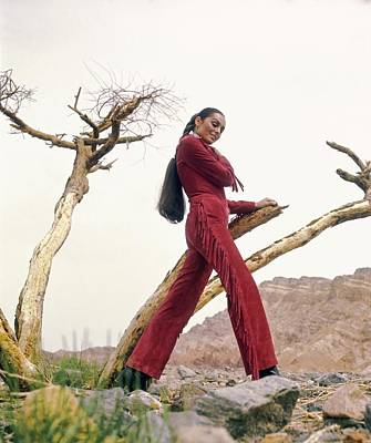 Photograph - Daliah Lavi Wearing A Beged-or Jumpsuit by John Cowan