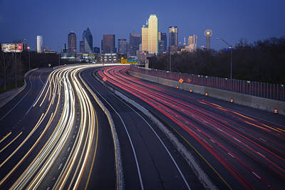 Skylines Royalty-Free and Rights-Managed Images - Dallas Afterglow by Rick Berk
