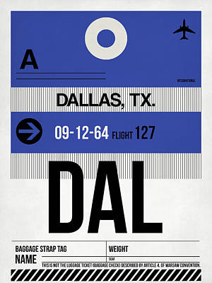 University Digital Art - Dallas Airport Poster 1 by Naxart Studio