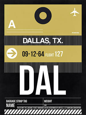 Travel Digital Art - Dallas Airport Poster 2 by Naxart Studio