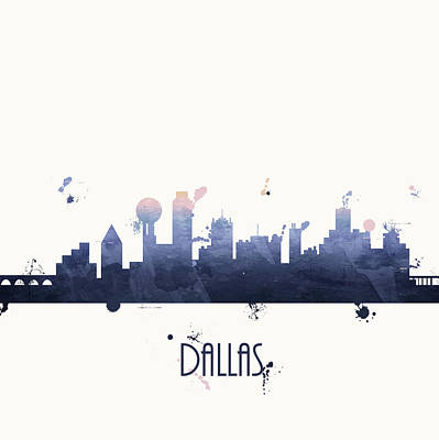 Dallas Texas Painting - Dallas by Anna Quach