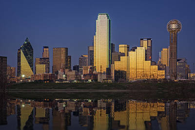 Skylines Royalty-Free and Rights-Managed Images - Dallas at Dusk by Rick Berk